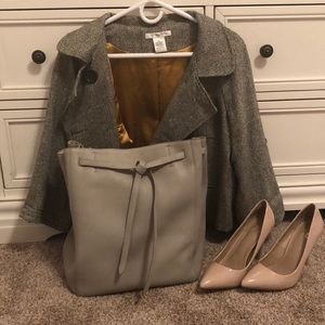 Pewter medium Celine Cabas Phantom tote